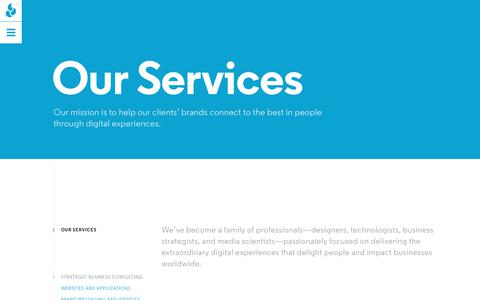 Screenshot of Services Page propanestudio.com - Services | Propane - captured July 23, 2018