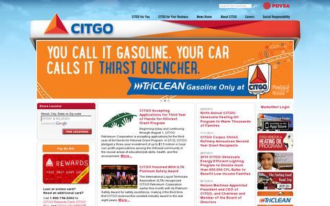 Screenshot of Home Page citgo.com - Home page - captured July 12, 2014