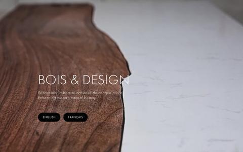 Screenshot of Home Page boisdesign.co - Bois & Design - Live edge custom made tables - captured Dec. 5, 2015