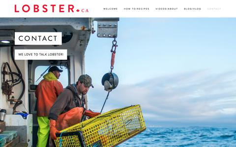 Screenshot of Contact Page lobster.ca - Contact — Lobster.ca - captured July 12, 2017