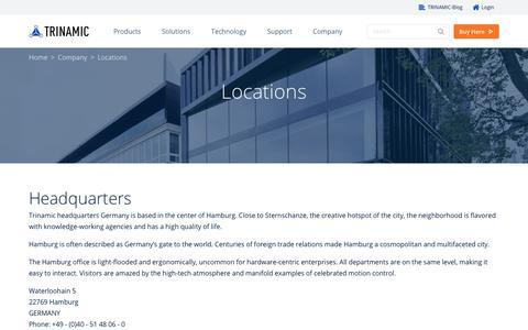Screenshot of Locations Page trinamic.com - Locations - Trinamic - captured Nov. 9, 2017