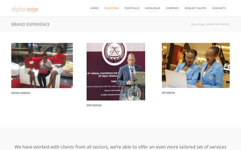 Screenshot of Case Studies Page digitaledgekenya.com - Brand Experience Agency in Nairobi   Digital Edge - captured July 5, 2016