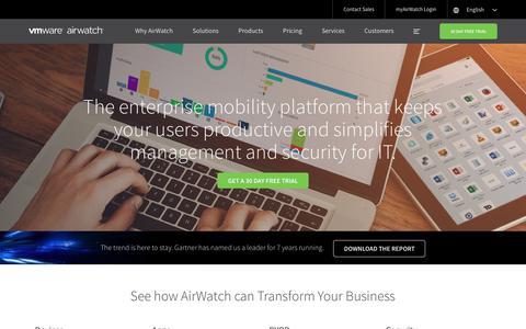 The Platform for Enterprise Mobility | VMware AirWatch |  AirWatch