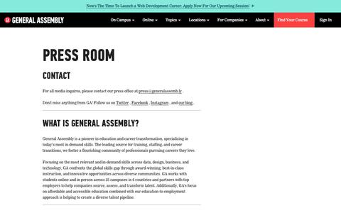 Press Room | General Assembly