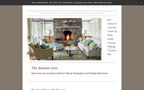 Screenshot of Pricing Page Menu Page creatinghomellc.com - * Pricing — RosieMoves: Chaos to calm - captured Feb. 15, 2016
