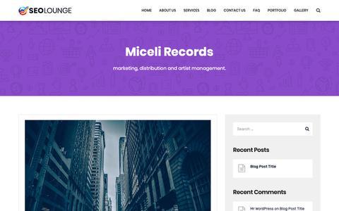 Screenshot of Blog micelirecords.com - Blog – Miceli Records - captured Nov. 4, 2018