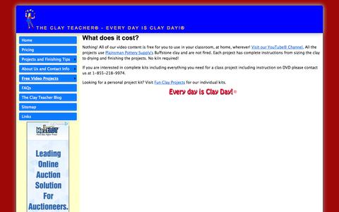 Screenshot of Pricing Page theclayteacher.com - The Clay Teacher Pricing - captured Oct. 1, 2014