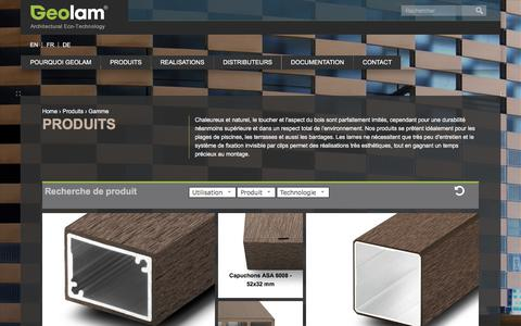 Screenshot of Products Page geolam.com - PRODUITS | Geolam - captured July 29, 2017