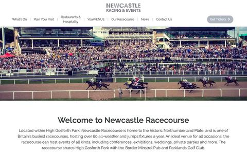 Screenshot of Home Page newcastle-racecourse.co.uk - Newcastle Racecourse - captured Oct. 20, 2018