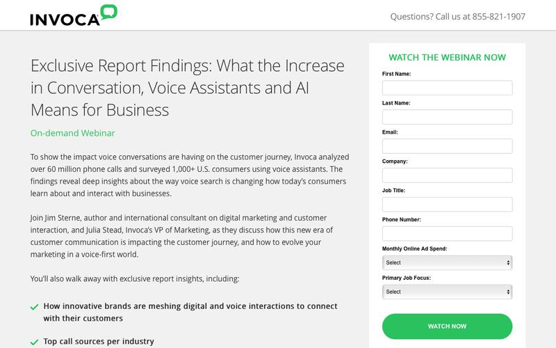 Invoca On-demand Webinar | Exclusive Report Findings: What the Increase in Conversation, Voice Assistants and AI Means for Business