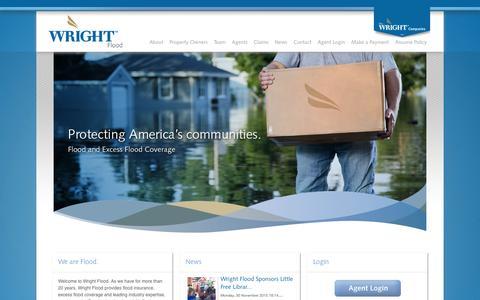 Screenshot of Home Page wrightflood.com - Wright Flood - Home - captured Aug. 14, 2016