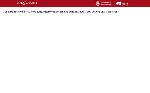 Screenshot of Login Page iga.sa.gov.au - sa.gov.au - Access Denied - captured Nov. 19, 2016