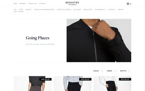 Men's Pants and Blazers | Going Places | Ministry of Supply