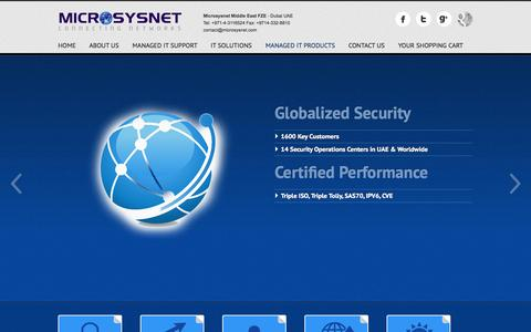 Screenshot of Products Page microsysnet.com - IT Security and Solutions | Managed Security Services - captured Oct. 27, 2014