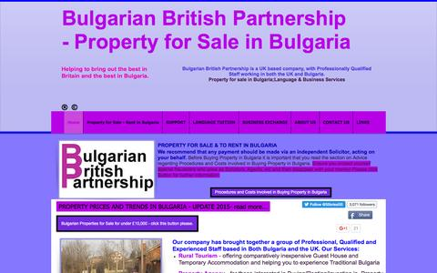 Screenshot of Home Page bulgarianbritishpartnership.co.uk - Bulgarian British Partnership, Property for Sale in Bulgaria - captured Jan. 7, 2016