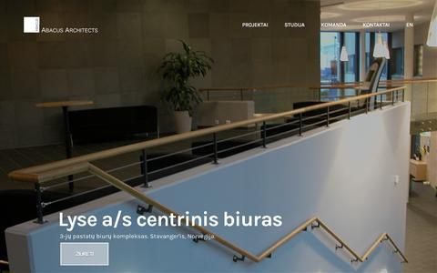 Screenshot of Home Page abacus.lt - Abacus Architects UAB - captured March 12, 2016