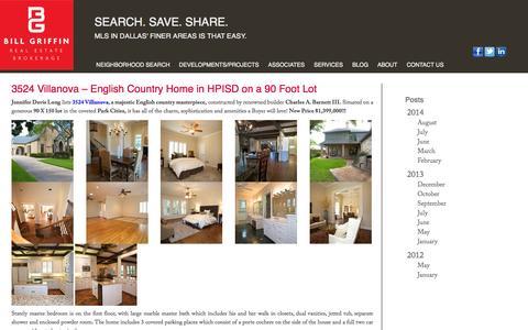 Screenshot of Blog billgriffinrealestate.com - 3524 Villanova - English Country Home in HPISD on a 90 Foot Lot   | Bill Griffin Real Estate - captured Sept. 30, 2014