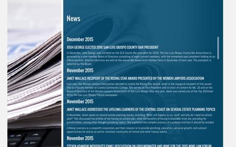 Screenshot of Press Page ammcglaw.com - News | - captured Feb. 5, 2016