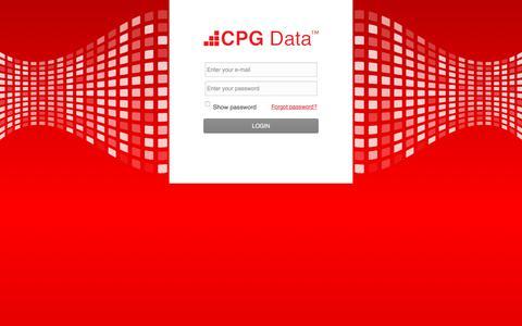 Screenshot of Login Page cpgdata.com - CPG Data :: Login - captured July 14, 2018