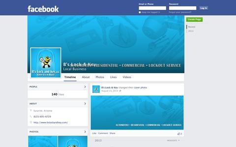 Screenshot of Facebook Page facebook.com - B's Lock & Key | Facebook - captured Oct. 22, 2014