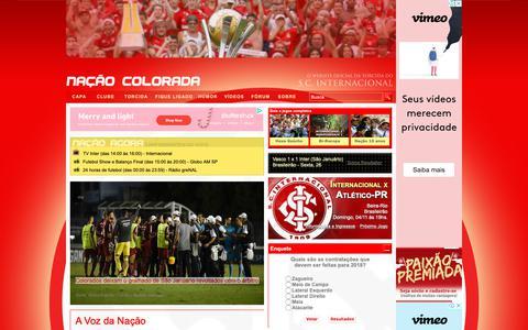 Screenshot of Home Page nacaocolorada.com.br - Nação Colorada | O site do torcedor Colorado | Internacional - captured Oct. 27, 2018