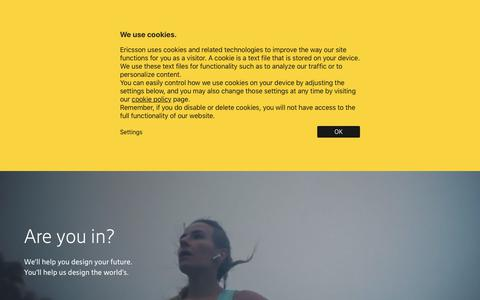 Screenshot of Jobs Page ericsson.com - Ericsson Careers: Creating the future world - captured Jan. 9, 2020