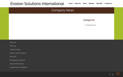 Screenshot of Press Page erosionsolutions.com.au - Company News Archives - Erosion Solutions International - captured July 28, 2017