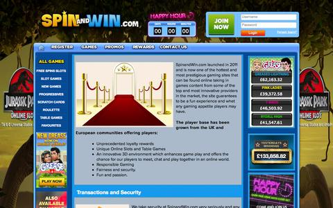 Screenshot of About Page spinandwin.com - About Us | Spin and Win - captured Sept. 19, 2014