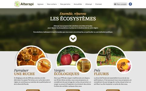 Screenshot of Home Page alterapi.be - Biodiversité : agissons pour son maintien - captured July 28, 2018