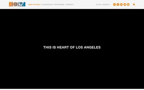 Screenshot of Press Page heartofla.org - Media — Heart of Los Angeles MAIN - captured Sept. 27, 2018