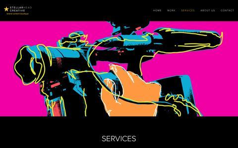 Screenshot of Services Page stellarhead.com - Services — Stellarhead Creative - captured Dec. 16, 2016