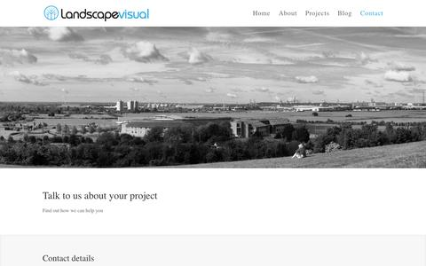 Screenshot of Contact Page landscapevisual.com - Contact Landscape Visual - Landscape Architecture Consultants - captured Sept. 27, 2018