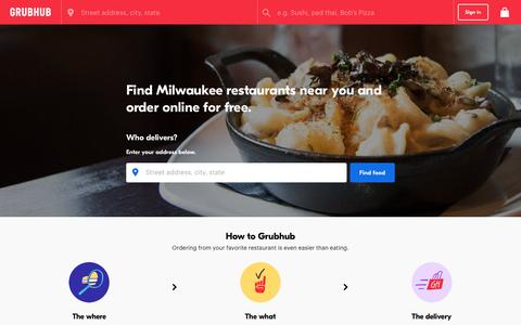 Milwaukee Food Delivery | Milwaukee Restaurant Take Out | Grubhub