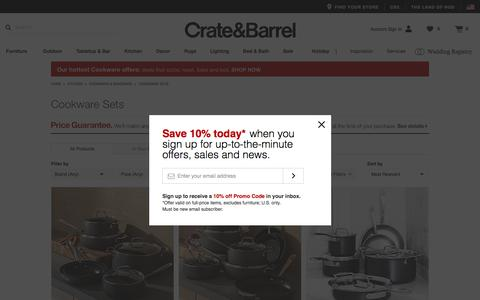 Cookware Sets: Stainless Steel & Aluminum   Crate and Barrel