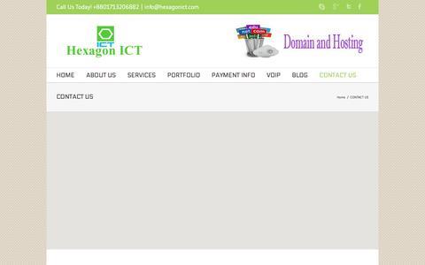 Screenshot of Contact Page hexagonict.com - Hexagon ICT CONTACT US - Hexagon ICT - captured Dec. 10, 2015