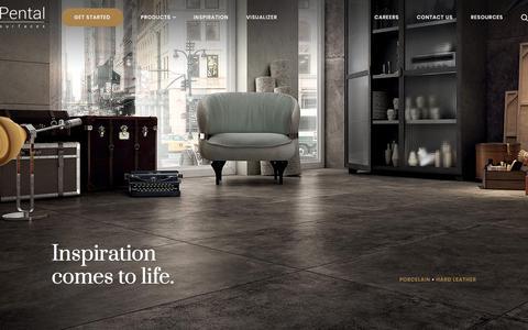 Screenshot of Home Page pentalonline.com - Home - Pental Surfaces - captured Feb. 19, 2020
