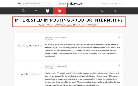 Screenshot of Jobs Page collegefashionista.com - Careers | CollegeFashionista - captured Dec. 10, 2015