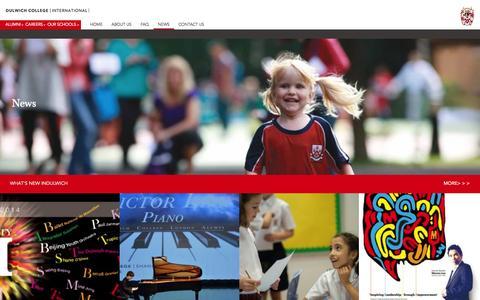 Screenshot of Press Page indulwich.com - News - DULWICH COLLEGE INTERNATIONAL - captured Oct. 5, 2014