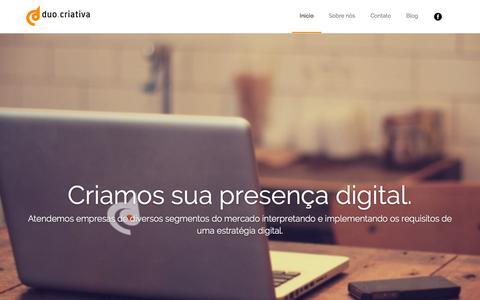 Screenshot of Home Page duocriativa.com.br - Agência digital · Duo Criativa - captured Jan. 27, 2015