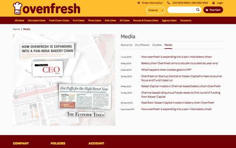 Screenshot of Press Page oven-fresh.com - Media - captured Nov. 11, 2017