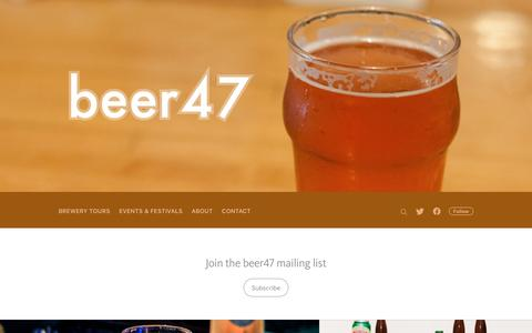 Screenshot of Home Page beer47.com - beer47 - captured April 27, 2017