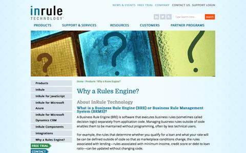 Why a Business Rules Engine (BRE) or Business Rule Management System (BRMS) | No Code Rules Engine | InRule