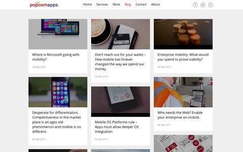 Screenshot of Blog popcornapps.com - Company Blog - captured July 14, 2016