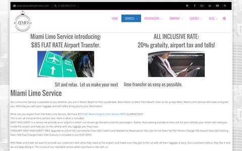 Miami Limo Service - we do transfer to Miami Airport