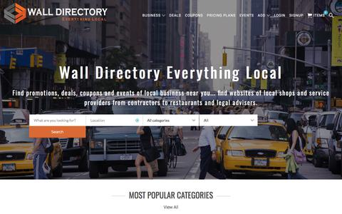 Screenshot of Home Page walldirectory.com - Best Deals, Coupons ,Videos Websites in New Jersey | Find Reviews, Submit, Discount websites in New Jersey | Free Increase Website Traffic New Jersey | Online Advertising New Jersey – Wall Directory - captured June 18, 2017
