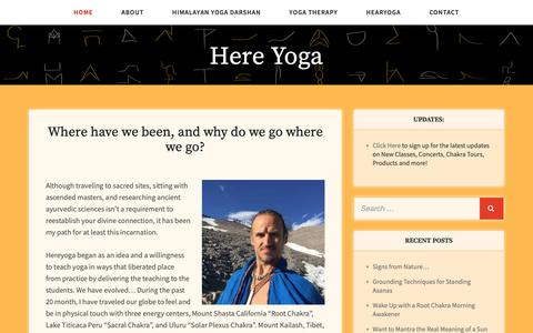 Screenshot of Home Page hereyoga.com - Join us on the Chakra Tour - captured Oct. 24, 2018