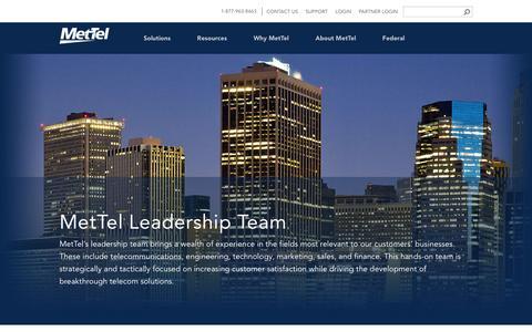 Screenshot of Team Page mettel.net - MetTel Leadership Team | MetTel - captured April 24, 2017