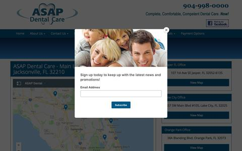 Screenshot of Maps & Directions Page asapdentalcare.com - ASAP Dental Care   Directions - captured Nov. 6, 2018