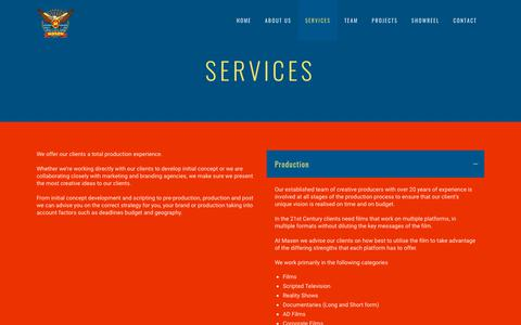 Screenshot of Services Page masengroups.com - Masen |   Services - captured Oct. 1, 2018