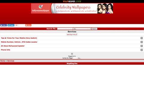 Screenshot of Services Page wapking.live - WapKing.live :: Services ::